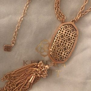 Kendra Scott Rose Gold Filigree Rayne Necklace